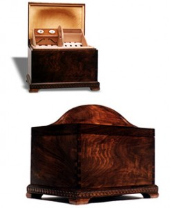 Jerry Haggerty's Hand Carved Turtle Top Humidor #28